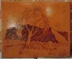 Wood Etching  - Original by Bob Sutor